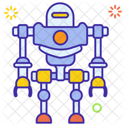 Robot Colored Outline Icon