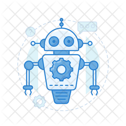 Robot Assistant Colored Outline Icon