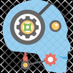 Robot Customer Service Flat Icon