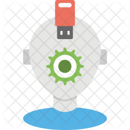 Robot Data Recovery Flat Icon