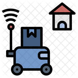 Robot Delivery Icon Of Colored Outline Style Available In Svg Png Eps Ai Icon Fonts