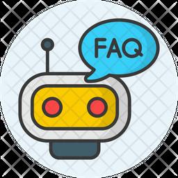 Robot Faq Colored Outline Icon