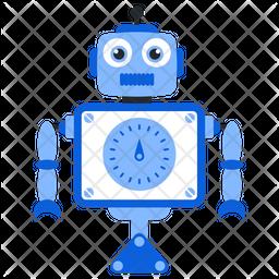 Robot Gauge Flat Icon