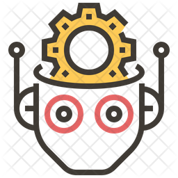 Robot Management Colored Outline Icon