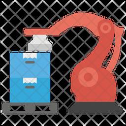 Robot Palletizing System Flat Icon