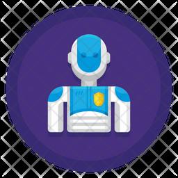 Robot Police Icon