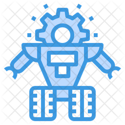 Robot Repair Colored Outline Icon