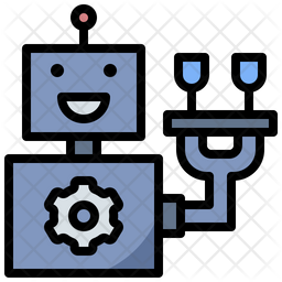 Robot Service Colored Outline Icon