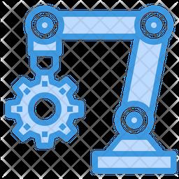 Robotic Arm Maintenance Icon