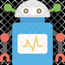 Robotic Cardiac Monitor Icon