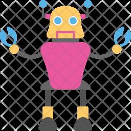 Robotic Crab Flat Icon