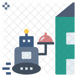 Robotic Delivery Flat Icon