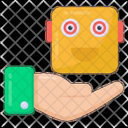 Robotic Service Flat Icon