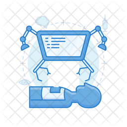 Robotic Surgery Colored Outline Icon