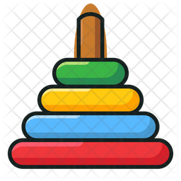 Rock A Stack Colored Outline Icon