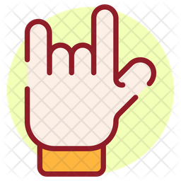 Rock Symbol Colored Outline Icon