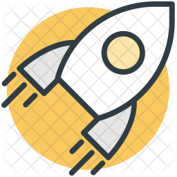 Rocket Colored Outline Icon