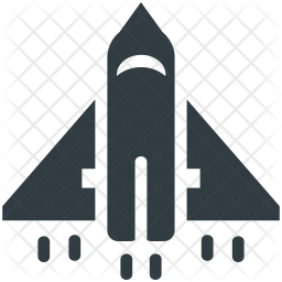 Rocket Glyph Icon