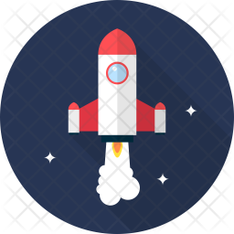 Rocket Flat Icon