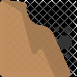 Rockfall Flat Icon