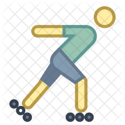 Roller Skating Icon Of Colored Outline Style Available In Svg Png Eps Ai Icon Fonts