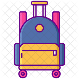 Rolling School Bag Icon