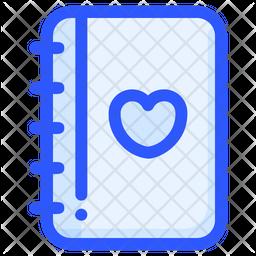 Romantic Book Colored Outline Icon