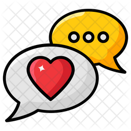 Romantic Chat Colored Outline Icon
