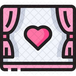 Romantic Movie Icon Of Colored Outline Style Available In Svg Png Eps Ai Icon Fonts