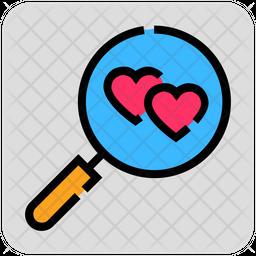 Romantic Search Icon