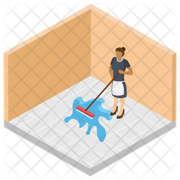 Room Cleaning Services Icon