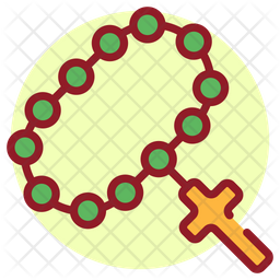 Rosary Colored Outline Icon