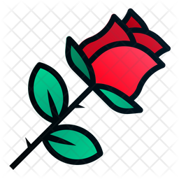 Rose Icon Of Colored Outline Style Available In Svg Png Eps Ai Icon Fonts