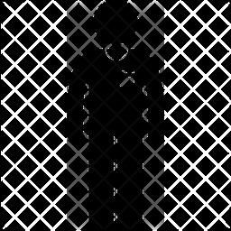 Round neck tshirt Glyph Icon