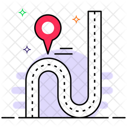 Route Colored Outline Icon
