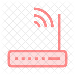 Router Colored Outline Icon