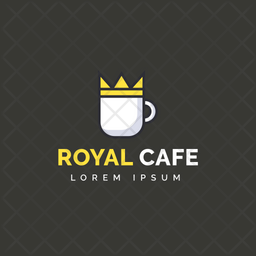 Royal Cafe Colored Outline  Logo Icon