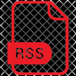 Rss file Flat Icon