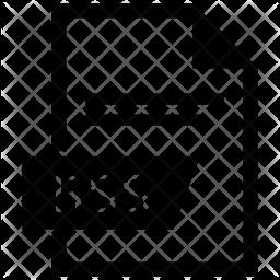 Rss file Glyph Icon
