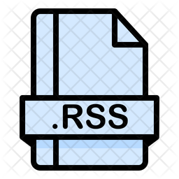 Rss File Colored Outline Icon