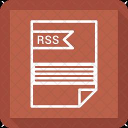Rss file Line Icon