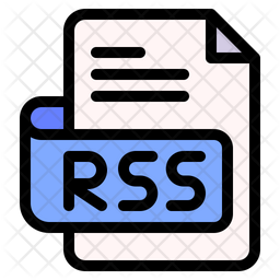 Rss Document Colored Outline Icon