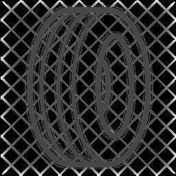 Rubber tire Icon