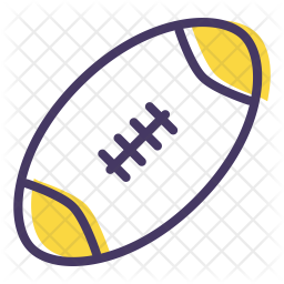 Rugby Colored Outline Icon