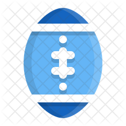 Rugby Ball Flat Icon