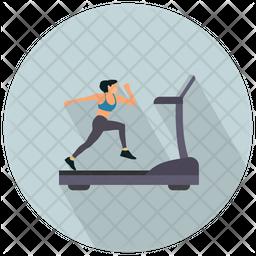 Running On A Treadmil Icon