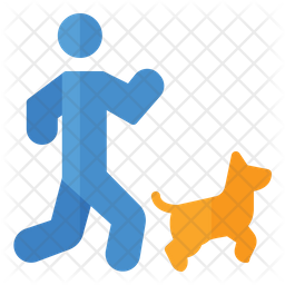 Running With Dog Icon