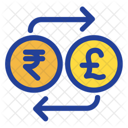 Rupees And Pound Exchange Icon