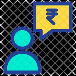 Rupees Conversation Icon