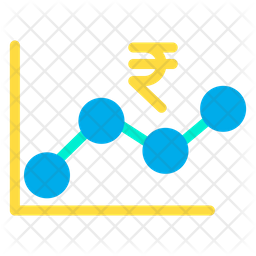 Rupees Growth Graph Icon